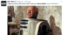 Fãs e integrantes de'Star Wars' expressam pesar pela morte de Kenny Baker, intérprete de R2-D2