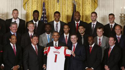 Obama Honors Champion Cardinals at White House