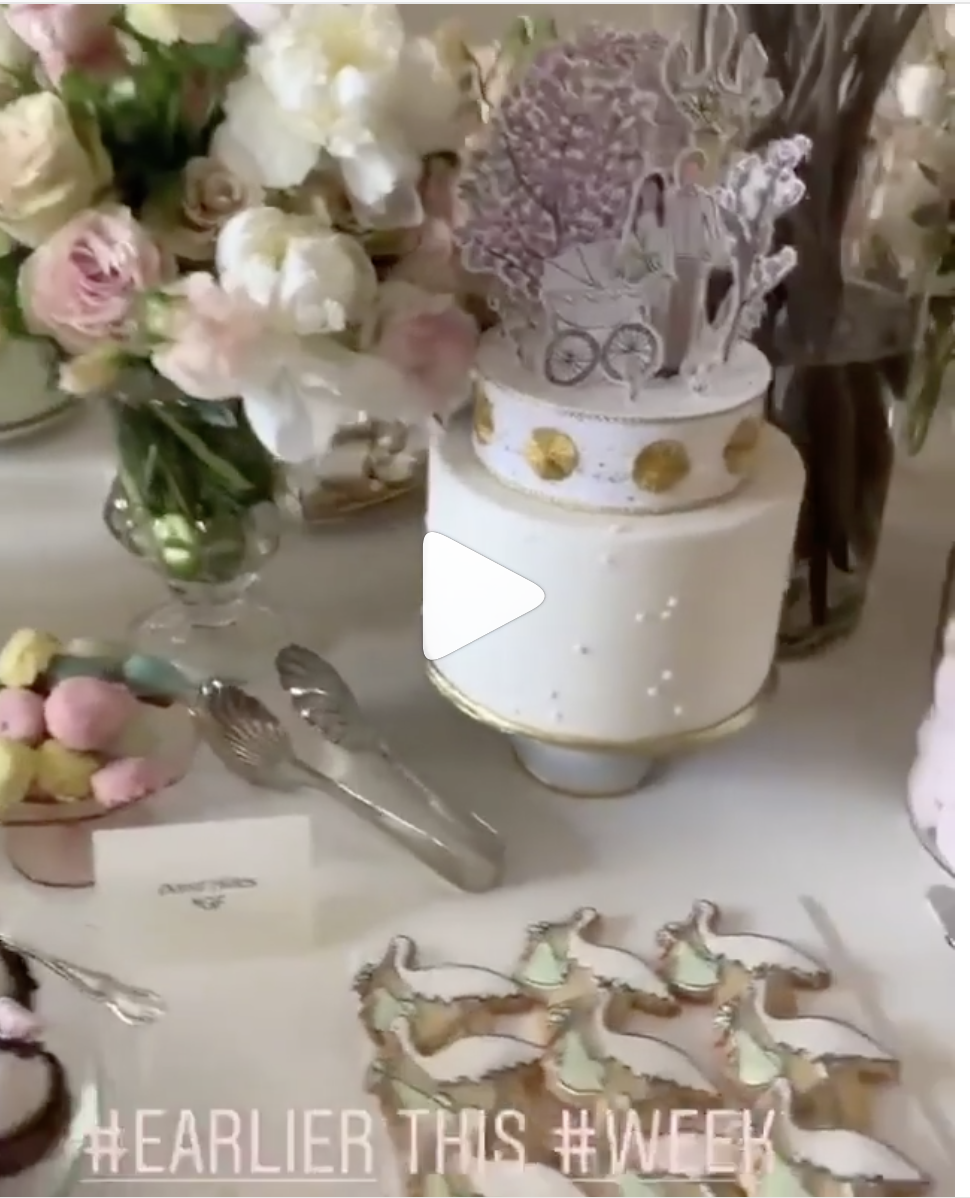 See The Adorable Dessert & Flowers From Meghan Markle's
