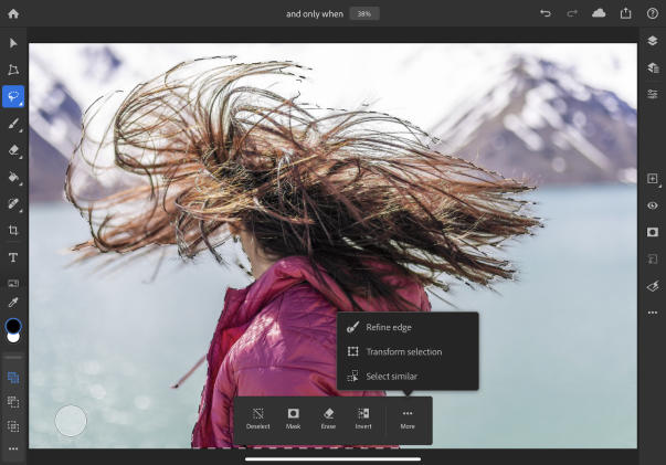 Adobe Photoshop for iPad gets better at selecting objects with complex edges