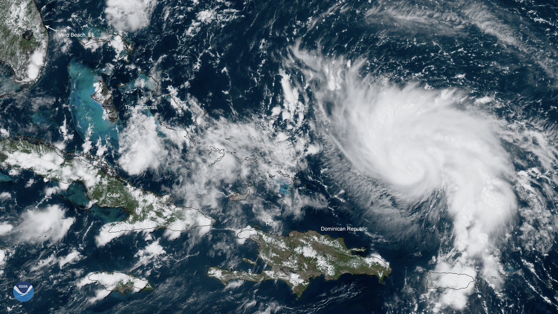 Dorian strengthens into Category 2 hurricane with 105 miles per hour winds