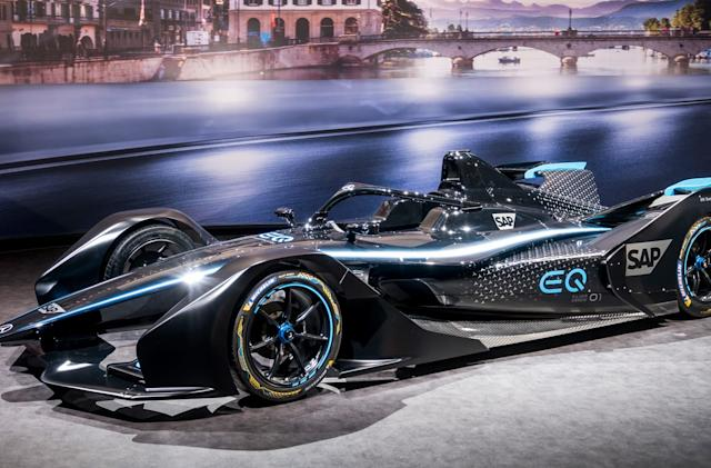 Mercedes unveils its first Formula E race car