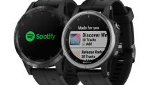 Garmin® announces integration with Spotify allowing customers to listen to offline playlists from their wrist
