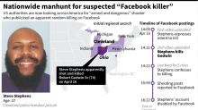 National search launched for alleged 'Facebook killer'