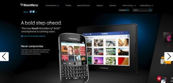 BlackBerry Bold Touch makes brief appearance on RIM's website