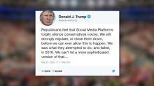 Trump ameaça 'fechar' redes sociais