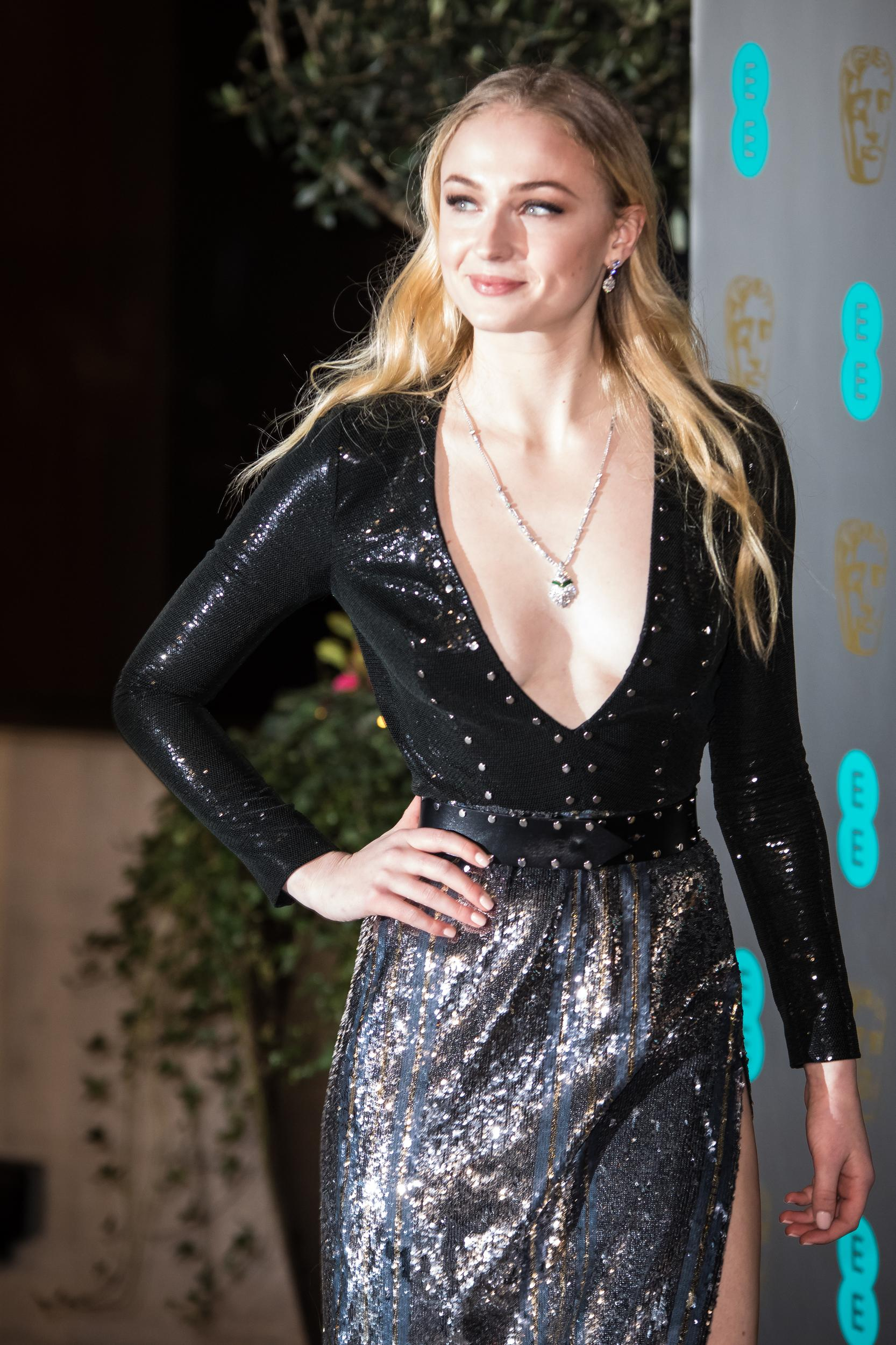 Sophie Turner poses for photographers upon arrival at the BAFTA Film Awards after party, in London, Sunday, Feb. 12, 2017. (Photo by Vianney Le Caer/Invision/AP)