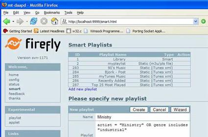 Firefly: Streaming to iTunes with DAAP