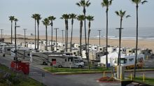 Los Angeles virus patients isolate in mobile homes