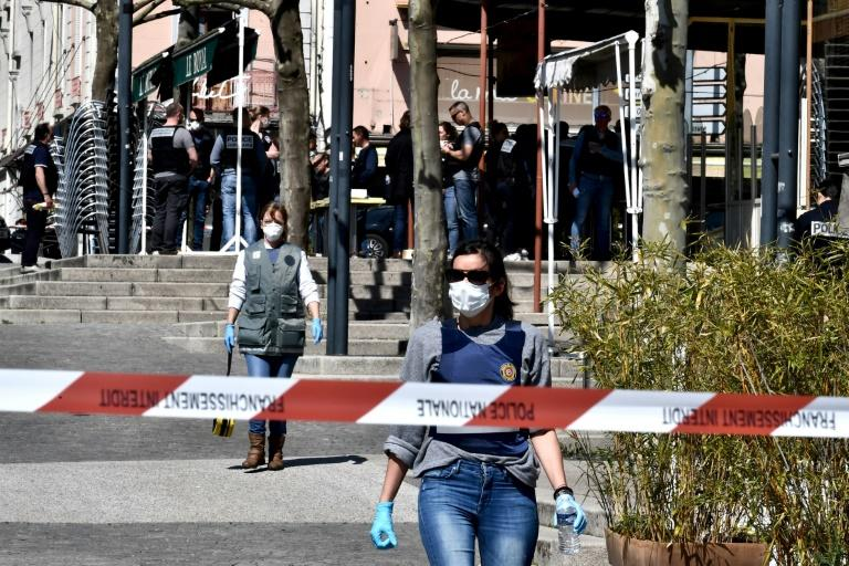The attack took place in the southeastern town of Romans-sur-Isere (AFP Photo/JEFF PACHOUD)