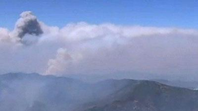 Raw Video: Wildfire Burns 110 square miles