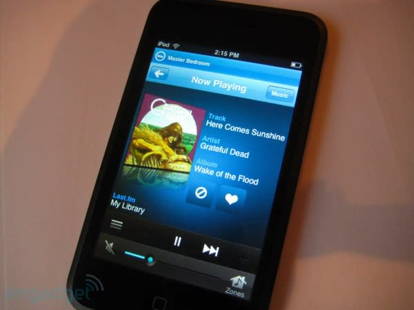 Sonos Controller for iPhone and Software 2.7 bring Last.fm, internet radio and 'the future' to your existing setup