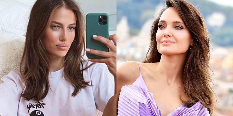 People Think Brad Pitt S New Girlfriend Looks Like Angelina Jolie
