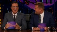 Stephen Colbert crashes 'The Late Late Show' to reveal downsides of being a CBS late-night host