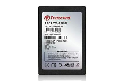 Transcend rolls out high-speed 192GB 2.5-inch SSD drive