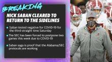 Nick Saban cleared to return to the sidelines