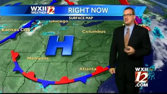 Brian looks at Thursday's forecast