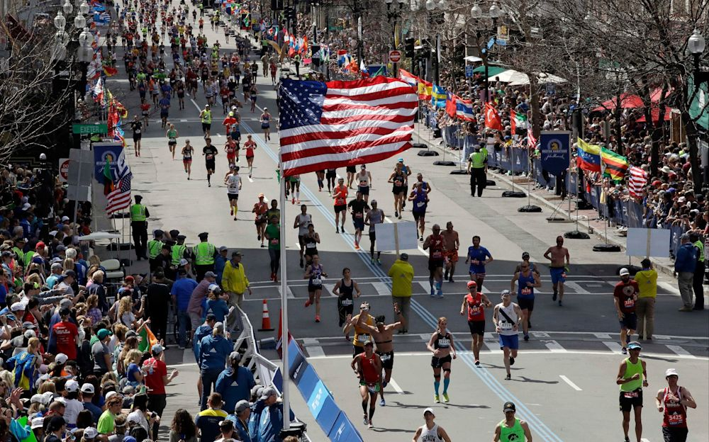 The 121st Boston Marathon took place four years after three people were killed by a bomb - Copyright 2017 The Associated Press. All rights reserved.