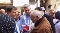 UN on the ground at Yarmouk camp in Syria