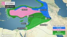 Late week storm to batter the Middle East with rain, snow