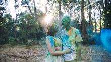 Couple had a crazy color fight at their wedding and the photos are incredible