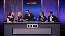 Jimmy Fallon and Rob Lowe Dominate 'Password' Against 2 Broke Girls Stars
