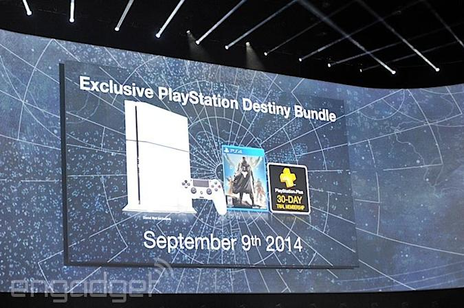 Sony's PlayStation 4 ships in white this September, comes with 'Destiny' and 500GB for $450