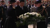China president pays respects to unknown soldier at Arc de Triomphe in Paris