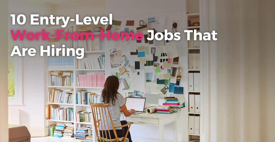 10 Entry Level Work From Home Jobs That Are Hiring Video