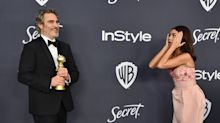 Sarah Hyland literally bowed down to 'Joker' star Joaquin Phoenix at a Golden Globes after-party
