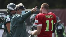 Eagles' Doug Pederson gets feisty while defending Carson Wentz's inaccuracy