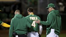 A's Chad Pinder delivers key pinch-hit returning from scary hit-by-pitch