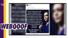 Kamala Harris Threatens Trump Supporters? Viral Quote is Made Up!