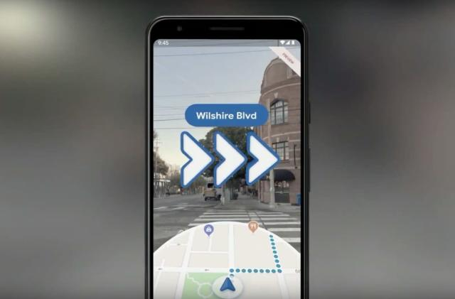 Google Maps' AR walking directions arrive on Pixel devices today