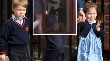 Prince George's cheeky big brother move caught on camera