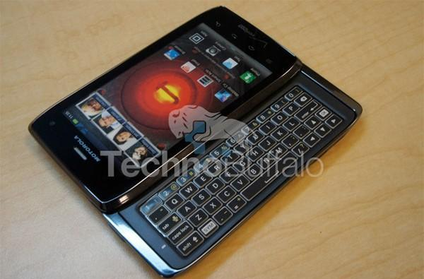 Droid 4 gets hands-on treatment, but it's simply a dummy unit