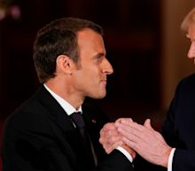 Trump Shared One Awkward Kiss And Handshake With Emmanuel Macron