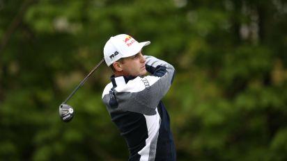 Matthias Schwab shrugs off US PGA snub to lead Betfred British Masters