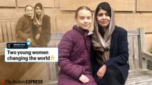 Photos of Greta Thunberg meeting Malala Yousafzai at Oxford have gone viral