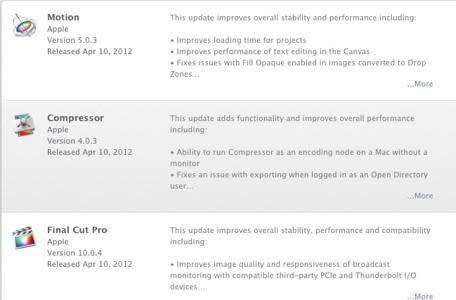 Apple updates Final Cut Pro X, Compressor and Motion ahead of NAB