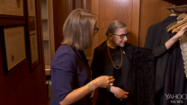 Justice Ginsburg Exhibits Her Famous Collar Collection