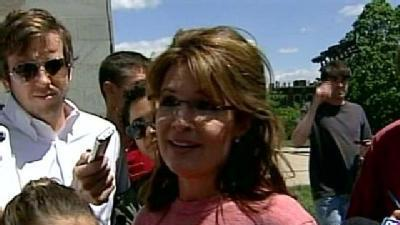 Palin Visits Boston, New Hampshire