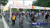 Cyclists take over LSD for Bike The Drive