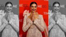 Deepika Padukone wears Anamika Khanna at the Time 100 Gala
