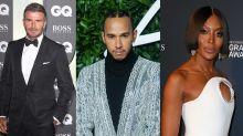 David Beckham, Lewis Hamilton and Naomi Campbell among stars condemning racist abuse of England players