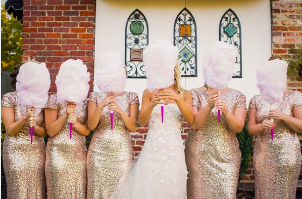 Candy floss bouquets are this year's newest wedding trend