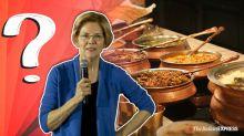 Which Indian dish is US Senator Elizabeth Warren talking about?