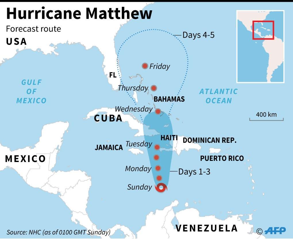 Hurricane Matthew (AFP Photo/)