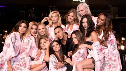 Head backstage at the 2017 Victoria's Secret Fashion Show in Shanghai