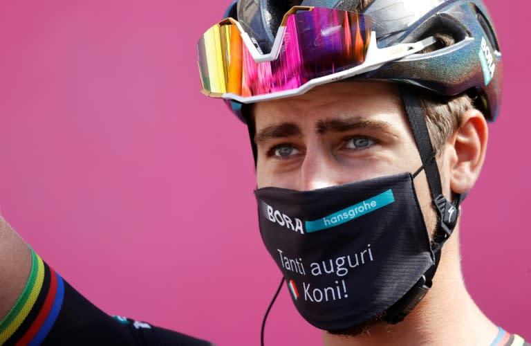 Team Bora rider Slovakia's Peter Sagan won the coronavirus-hit Giro d'Italia 10th stage